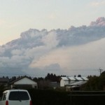 都城市内から撮影した霧島